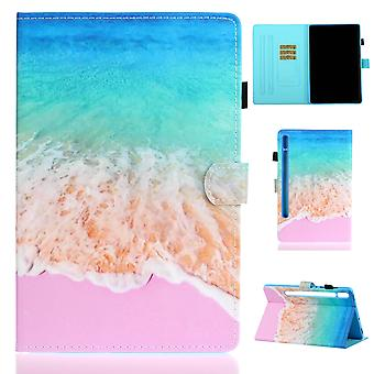 Case For Samsung Galaxy Tab S7 Cover With Auto Sleep/wake Pattern Magnetic - Seawater