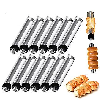 12 Pack Stainless Steel Cannoli Form Tubes