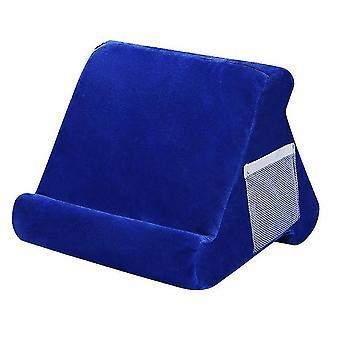 Tablet Soft Pillow Stand Til Ipads Multi-vinkel Lap Stand Mobiltelefon Holder (Blå)