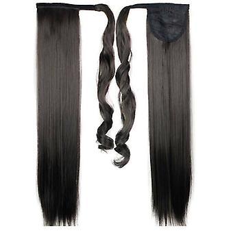 (60cm2#) Lange glatte Haarwickel Pferdeschwanz Clip in Pferdeschwanz Haarverlängerungen Natur