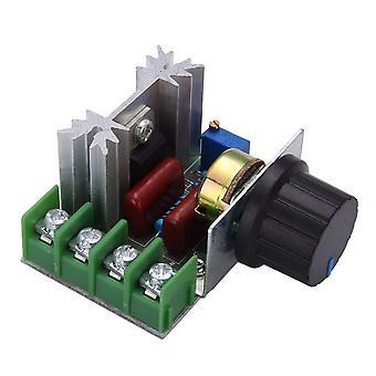Ac 220v 2000w scr spänningsregulator dimring dimmers motorhastighetsregulator termostat elektronisk spänningsregulator