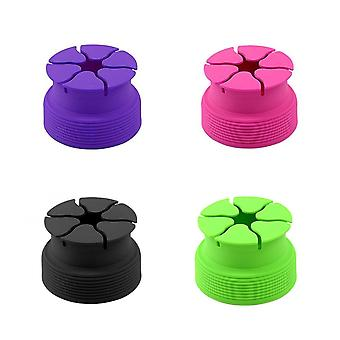 Silicone cord keeper - purple, black. pink or green