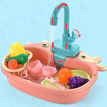 Children's Mini Kitchen Toy Sink Simulation Electric Circulating Water Play House Toy Children's Favorite Gift