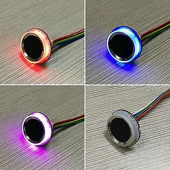 قارئات بصمات الأصابع r502 أدى حلقة مستديرة صغيرة رقيقة uart وحدة التحكم في الوصول إلى بصمات الأصابع