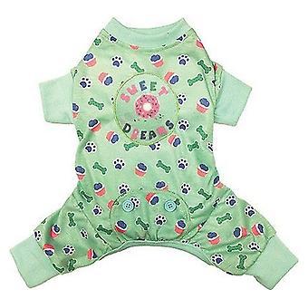 Fashion Pet Sweet Dreams Dog Pajamas Mint - XX-Small