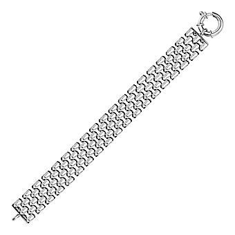 Breite Panther Kette Armband in Sterling Silber