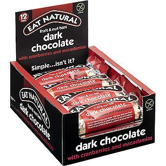 Mangez du Choc Noir Naturel avec Cranb & Macadamias 45g x12 - 2107