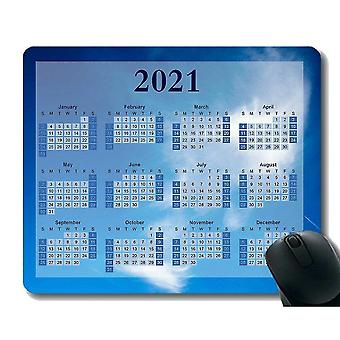 Keyboard mouse wrist rests 220x180x3 2021 calendar mouse pad clouds in blue sky soft mouse pads