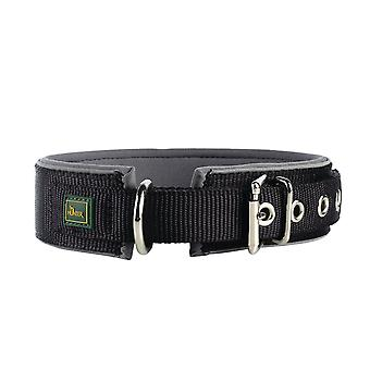 Pet leashes reflect neoprene collar  size 60  49-56 cm  45 mm  black/grey