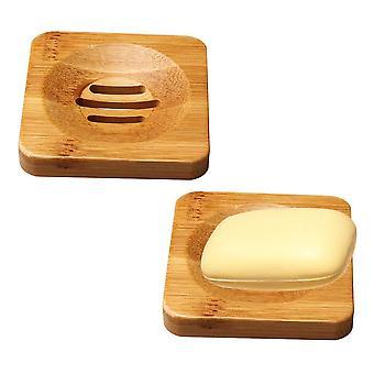 2 csomag bambusz fa szappantartó