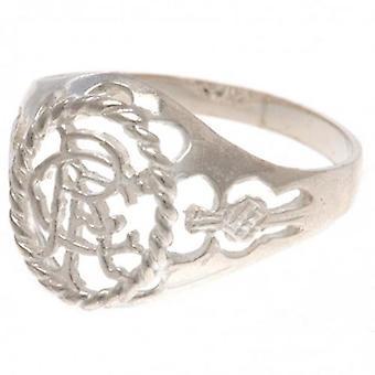 Rangers Sterling Silver Ring Medium