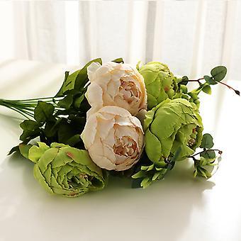 פרחים מלאכותיים 24 פרחי אדמונית בסגנון אירופאי