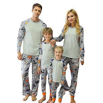 Halloween gresskar langermet topper bukser pyjamas familie nattøy matchende sett