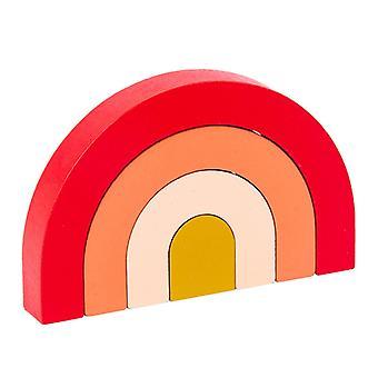 1セットアーチ型おもちゃ虹のビルディングブロック脳発達ビルディングブロック柔らかいスタッキングスタッキングブロックおもちゃ