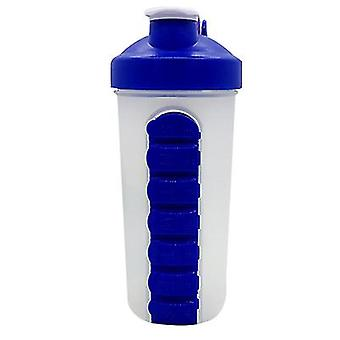 Outdoor Portable Pill Cup Shaking Cup 700ml Sports Water Cup With Stainless Steel Ball