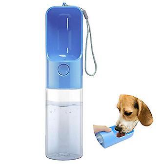 Water Bottles For Walking Pet Portable Drinking Bottle Puppy Travel Bowl Dispenser Doggie Kettle Kittens Feeding Cup(blue)