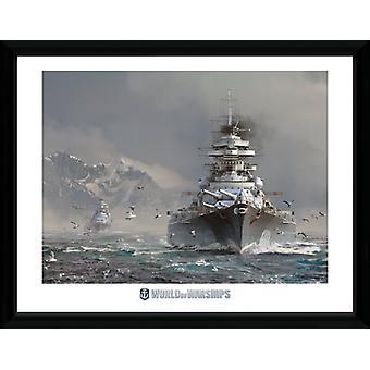 World of Warships Bismark Framed Collector Print