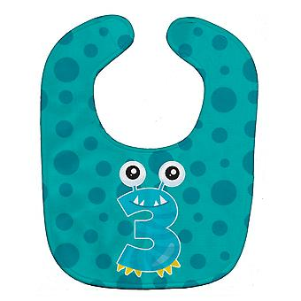 Carolines Treasures  BB8853BIB Monster Month 3 Baby Bib