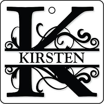 K - Custom Monogram Car Air Freshener
