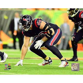 JJ Watt 2017 Action Photo Print