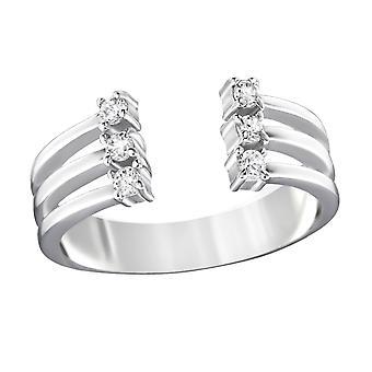 Open - 925 Sterling Silver Jewelled Rings - W32355X