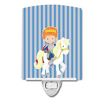 Carolines skarby BB8748CNL Ginger Boy księcia na koń #2 ceramiczne Night Światło
