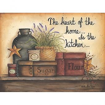 Heart of the Home Poster Print by Mary Ann June (12 x 16)