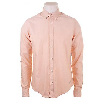 Scotch & Soda Mens L/s Coloured Oxford Shirt