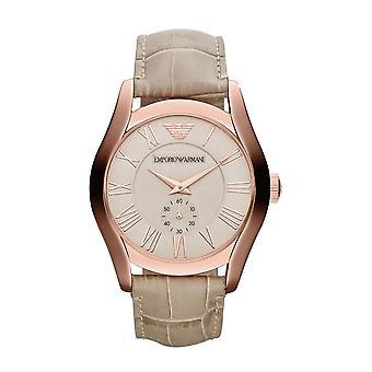 Orologio Emporio Armani oro rosa PVD rosa quadrante crema cinturino AR1667