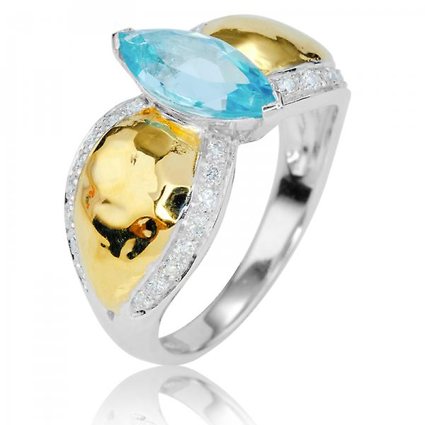 Shipton and Co Ladies Shipton And Co Exclusive 9ct White Gold And Aquamarine Ring RWD156AQD