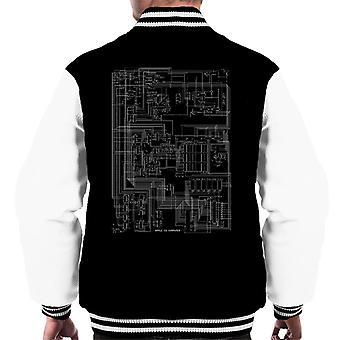 Apple II Computer Schematic Men's Varsity Jacket