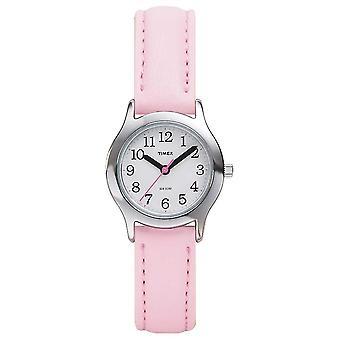 Timex kvinnors/Kids rosa läderrem T79081 Watch