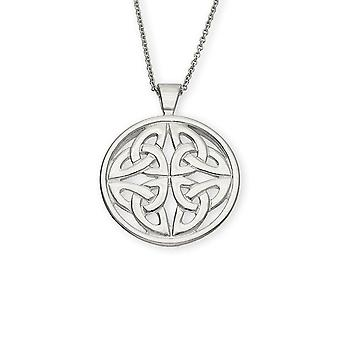 Sterling Silver Traditional Scottish Celtic Eternity Knotwork Hand Crafted Necklace Pendant - P622