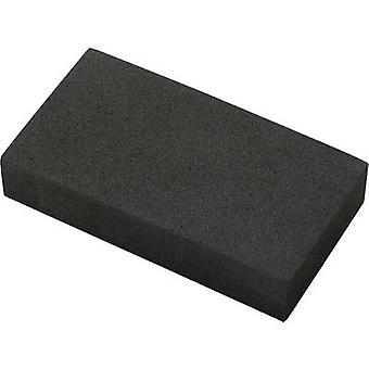 Basetech EVA9550H20 Köpük kauçuk blok kendinden yapışkanlı EVA Siyah (L x W x H) 95 x 49 x 19 mm 1 adet(ler)