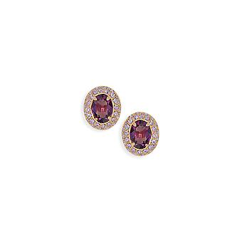 Amethyst earrings with crystals from Swarovski 516