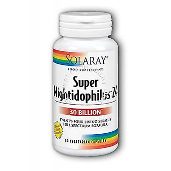 Solaray Super Mightidophilus 24 billones, 60 capsulas de Vege