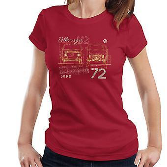 Volkswagen T2 Mini Van 72 Women's T-Shirt