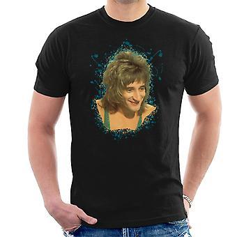 TV tider Rod Stewart glittrig väst mäns T-Shirt