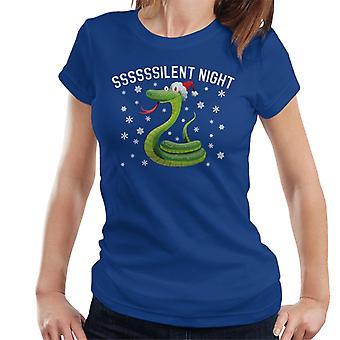 T-Shirt serpent Noël douce nuit féminin