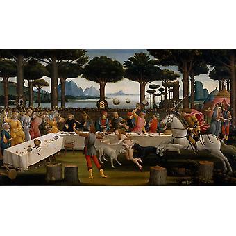 Novella di Nastagio degli Onesti, Sandro Botticelli 01
