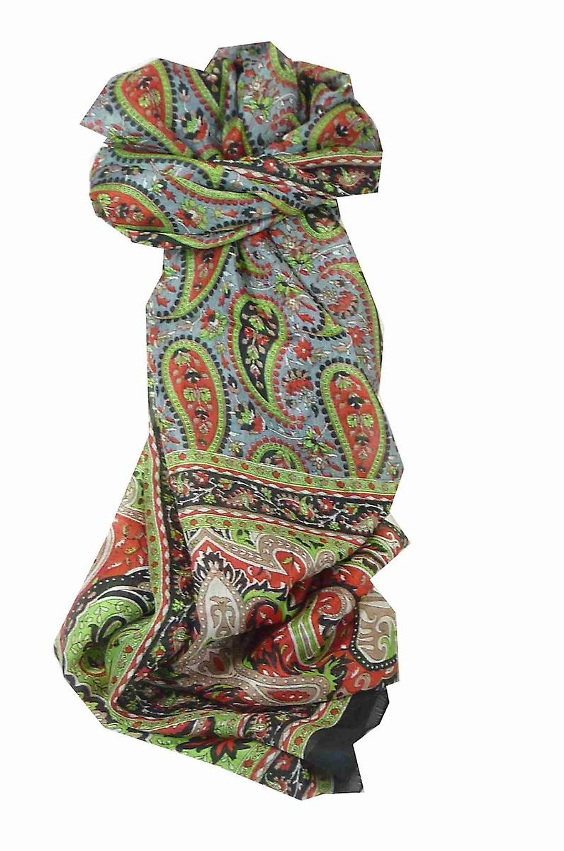 Mulberry Silk Traditional Long Scarf Koel Black by Pashmina & Silk