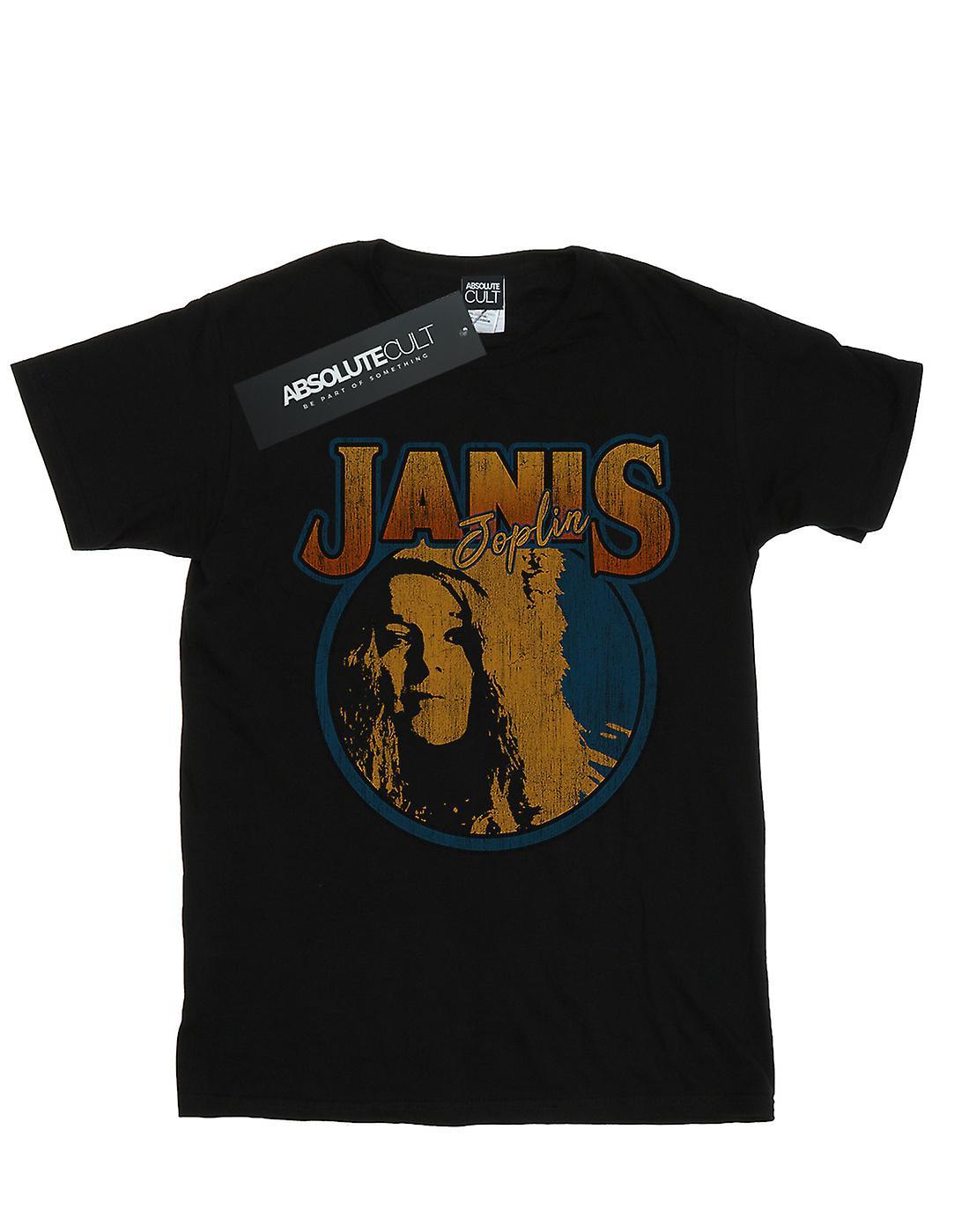 Janis Joplin Boys Distressed Circle T-Shirt