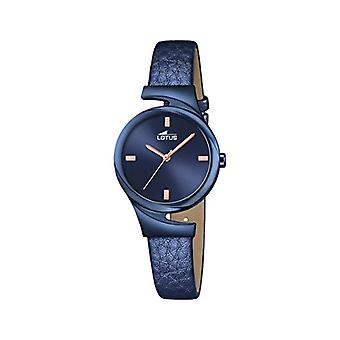 Ladies Quartz Blue Dial Blue Leather strap analog display and Lotus 18345/1