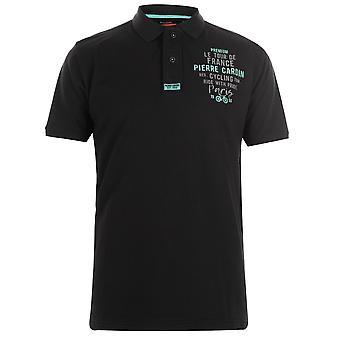 Pierre Cardin Mens bordado logotipo Polo Mens T-Shirt t-shirt manga curta Tops