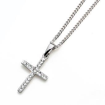 Oliver Weber Pendant Cross 925Ag Rhodium Crystal