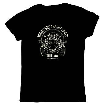 Outlaw Womens T-shirt - Pop Cultuur Gift Her