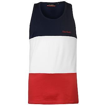Pierre Cardin Mens suuri leikata ja ompele liivi Hihaton toppi T-paita T-paita