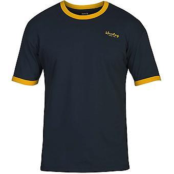 Hurley Dri-FIT Harvey ringer kortärmad T-shirt i Armory Navy