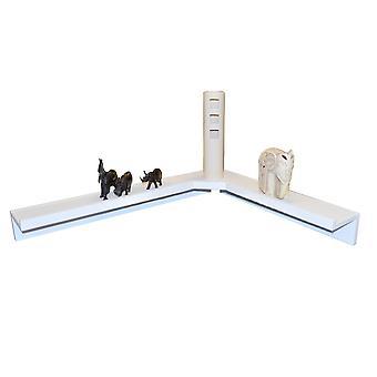 Corma - Floating Corner Storage / Display Shelf - White