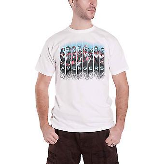 Avengers Endgame T Shirt Lineup Movie Logo new Official Mens White